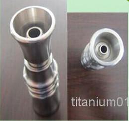 Wholesale -Grade 2 titanium domeless nail 240 pcs of 14mm Female 18mm Female each 120pcs