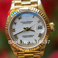 Wholesale 2013 PRESIDENT LADIES YELLOW GOLD COMES WITH BUCKLE ON THE BAND Limited Automatic Movement Mechanical High Quality Watches