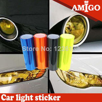 Wholesale Car Sticker Colors cm x cm Headlight Vinyls Tinting Car Sticker Film For Sticking Your Whole Car