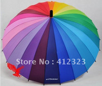 Wholesale Top Quality Fahsion Long handle rainbow Straight umbrella rain umbrellas paraso Citymoon k retail