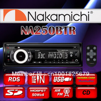 1 DIN Special In-Dash DVD Player 3.5 Inch car dvd Authentic Brand New NAKAMICHI NA250BTR CD MP3 WMA SD USB AM FM BLUETOOTH AUX IN Car Stereo Player