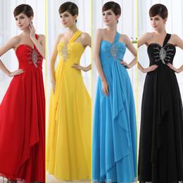 Wholesale 2014 Cheap Chiffon One shoulder Sleeveless Asymmetrical Floor length Sequins Beaded Summer Prom Dresses Bridesmaid Evening Dresses SD004