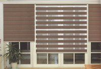 Wholesale Translucent Roller Zebra Blinds in Dark Brown Curtains for Living Room Colors are Available