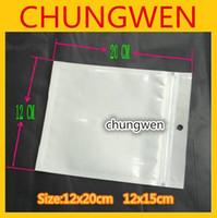 Wholesale Hot white Plastic Retail packaging package pouch bag for mobile phone accessories x20 cm