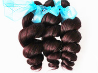 Wholesale Hot Queen Hair Brazilian Virgin Remy Hair Extension Weave loose wave Hair Weft Dark Wine J high QUALITY quot quot mix length