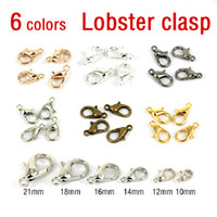 Clasps & Hooks Jewelry Findings Yes FREE SHIPPING 100pcs metal DIY 12mm Jewelry Findings Vintage Silver Lobster Clasps Jewelry accessories for jewelry making