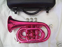 Yes Bb Palm Pink pocket Trumpet with hard case and mouthpiece