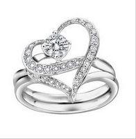 Wholesale 925 Sterling Silver Gemstone Platinum Ring With Austria Crystal Costume Rings Lovers Rings Jewelry Rings Mens Wedding Rings