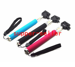Wholesale Gopro Tripod Self timer Mobile phone Extendable Ski Pole Handle Telescopic Monopod With Tripod Mount For S S C Galaxy S5 S4 NOTE3