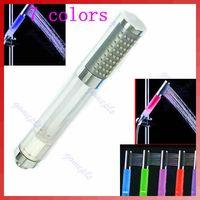 Wholesale Romantic Colors LED Light Water Bathroom Shower Head retail