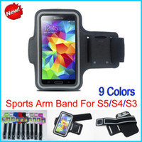 For Samsung arm cover protectors - Stylish WaterProof Sport Gym Running Armband Protector Soft Pouch Case Cover for Samsung Galaxy S5 i9600 S4 i9500 S3 i9300 Arm band Colors