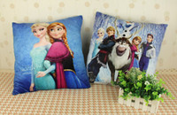 Wholesale 2014 new Frozen Princess Elsa Anna Fashion Pillow CM Cartoon Cushion With cotton