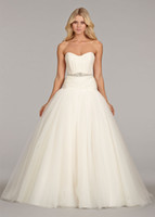 Custom made Sweetheart A- line White Ivory Wedding Dresses Pr...