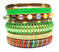 Cheap bohemian jewelry Best colorful bangles