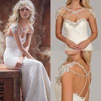 Hot Sale Sweetheart Sheath Lace Sexy Wedding Dresses Brush T...