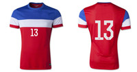Wholesale world cup USA MORGAN Away Red soccer jerseys Best Thai Quality top quality Free Custom Size S XL