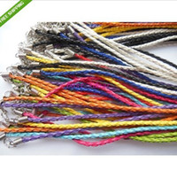 Wholesale Mixed color Necklace Braided leather quot Cord Necklace pack Fashion Cord Necklace