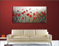 More Panel Oil Painting Abstract modern Fashion wall decoration art oil painting on canvas single panels flower decoration no framed