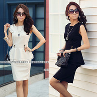 Skirt Suit ladies skirt suits - 2014 Women Work Wear Suit And Skirt Set Lady Office Summer Suits for Bussiness Sleeveless