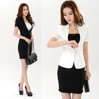 Wholesale New One Button Regular Women Elegant Summer Business Working Skirt Suits Formal Ladies Top And Skirt Set Office Uniform