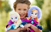 Unisex Big Kids Anime & Comics Wholesale - Hot Sale Frozen Doll Frozen Plush Toys 2014 New 50cm Princess Elsa Anna Plush Doll Brinquedos Kids Dolls free shipping
