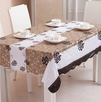 Wholesale pvc plastic tablecloths printed tablecloth table cloth waterproof disposable oil