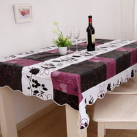 Wholesale 152 cm pvc plastic tablecloths printed tablecloth table cloth waterproof disposable oil