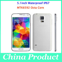 Wholesale Real S5 IP67 Waterproof Phone inch I9600 MTK6592 Octa Core Android Real G RAM G Smart Remote OTG