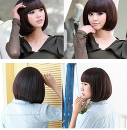 Wholesale Black New Fashionable BOB Style Short Cosplay Party Fancy Dress Fake Hair Wig Halloween Wigs