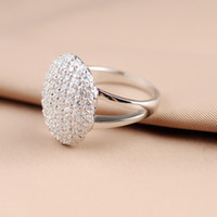 Wholesale 18K Gold plated Breaking Dawn Bella Sterling Silver Crystal Ring Engagement Wedding Ring