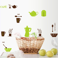 Wholesale Cafe Kitchen Wall Stickers Home Decoration Wall Art Decorative Wall Decal for Tile Fridge