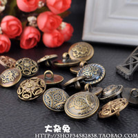 Wholesale 80pcs Metal Bronze Round Buttons mm mm with One Hole Fit Sew on Coat clothes pants US or more