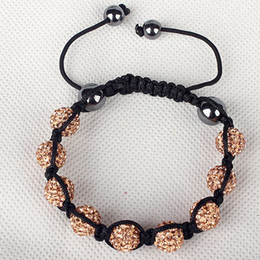 Wholesale 2014 NEW Multi color Fashion Acrylic Beaded Jewelry Adjustable Braid Disco Ball Bracelet LW312208