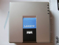 Wholesale New style Linksys PAP2T NA VOIP SIP ATA Phone Adapter pap2T Tracking No D0252D