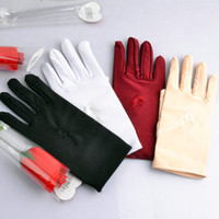 Wholesale New In Stock Female Lycra Spandex Short embroidery high elastic spring summer Etiquette thin skin sunscreen gloves riding gloves