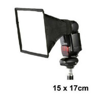 Wholesale 15x17cm Portable Flash Softbox Diffuser SpeedLight For Canon Nikon