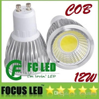 Wholesale High Power COB GU10 W Led Bulbs Light CRI gt Warm Pure Cool White Dimmable E27 E26 MR16 Led Lights V V CE ROHS CSA UL