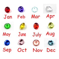 Wholesale 120pcs Color Mix mm Birthstone Floating Charm For Glass Locket Origami Owl Charm Living Memory Cone Shaped Plastic Crystal