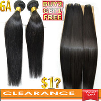 Wholesale Clearance Sale A Virgin Indian Brazilian Malaysian Peruvian Straight Hair Extension Buy Get FREE Sliky Dyeable Hair Weave Bleacheable