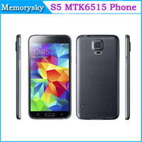 phone quad band - 1 S5 i9600 inch MTK6515 Dual Core Android Quad Band Camera WiFi Cardiograph Unlocked Smart Mobile Cell Phone
