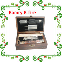 Wholesale Hot In Market Newest kamry K fire kit Wooden Vision Variable Voltage V Wood Ecig K fire Kamry ecig E Cigarette Via DHL