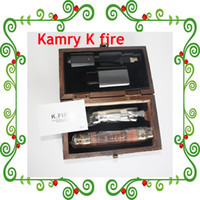 Wholesale Wooden Vision kamry k fire kit E Cigarette Hot In Market New Wood Ecig K fire Kamry ecig Name Brand E Cigars Variable Voltage Battery