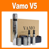 Wholesale Vamo V5 Starter ego Kit LCD Display Variable Voltage Battery CE4 Atomizer Clearomizer Electronic Cig DHL FREE