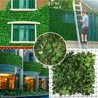 Wholesale New SGS certificate cm cm artificial ivy hedges fake leaves for garden fencing artificial hedge G0602A005D