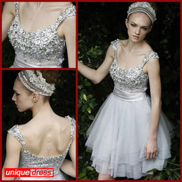 Wholesale Plus Sizes Vintage Homecoming Dresses A Line Scoop Short Beads Lace Sexy Crystals Zip Side Cocktail Dresses Party Dresses Backless