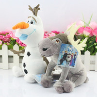 Wholesale EMS Cartoon Movie Frozen Olaf and Sven snowman Milu deer Kristoff friend Sven Plush toy stuffed doll for kids gift