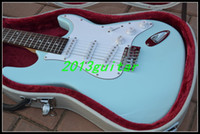 blue guitar - 2014 OEM China Guitar New Arrival Light blue Series ST Surf Green Guitar one piece neck No Scarf