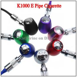 E Pipe K1000 Mechanical Mod Kit K1000 E Pipe Electronic Cigarette E Cigarette 18350 Battery in Zipper Case Huge Vapor All Colors Instock