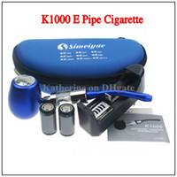 Single Black Metal K1000 E Pipe Mechanical Mod Kit Simeiyue K1000 Pipe Electronic Cigarette E Cigarette 18350 900mAh Battery in Zipper Case All Colors Instock