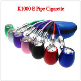 E Cig E Pipe K1000 Simeiyue Mechanical Mod Kit K1000 E Pipe Electronic Cigarette E Cigarette 18350 Battery in Zipper Case All Colors Instock